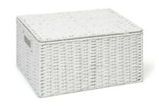 Storage Basket White Extra Large Paper Rope Box With Lid By Arpan