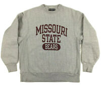 Vtg Champion Missouri State Bears Reverse Weave Sweatshirt Crew Neck Spell Out M