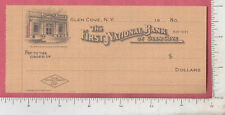A949 First National Bank of Glen Cove, NY c 1925 bank check