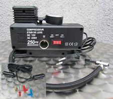 220V & 12V Betrieb Kompressor elektrische Pumpe Ballpumpe Luftpumpe mit Adapter!