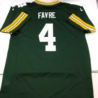 Nike Brett Favre #4 Green Bay Packers On Field NFL Football Jersey Youth XL
