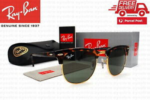 New Classic Ray-Ban RB3016 W0366 51mm Clubmaster Tortoise Frame Green Len Rayban