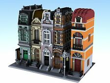 Lego Custom City 4 Modular Buildings Town Homes Condo City Streets Midtown