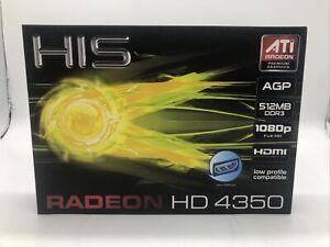 HIS Radeon HD 4350 HDMI 512MB DDR3 AGP Graphic Card