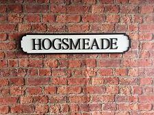 Vintage Wood Street Road Sign HOGSMEADE