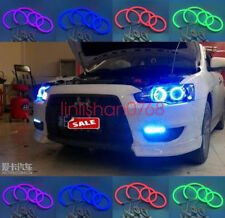 Cotton RGB LED Angel Eyes Halo Rings For Mitsubishi Lancer 2008-15 non projector