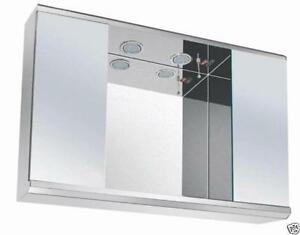 Led Lights Bathroom Mirror Cabinet With On/Off Pull Switch&Shaver Socket 7006