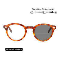 Transition Photochromic Bifocal Retro Reading Glasses Optical Hyperopia UV400