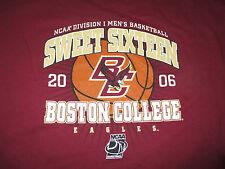 2006 SWEET SIXTEEN Basketball BOSTON COLLEGE EAGLES (2XL) T-Shirt FINAL FOUR