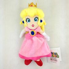 "Peach Princess Super Mario Bros Pink Suit Soft Plush Toy Stuffed Animal Doll 8"""