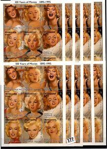 /// 10X MONTSERRAT 1995 - MNH - MARILYN MONROE - CINEMA - WHOLESALE