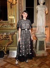 GIAMBATTISTA VALLI x H&M BLACK EMBROIDERED FLORAL LONG DRESS PARTY SIZE S