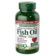 4 bottles NATURES BOUNTY FISH OIL 1000MG 300MG OMEGA3 440 SOFTGELS TOTAL 2018 DA