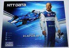 2016 Tony Kanaan NTT Data Chevy Dallara Indy Car postcard