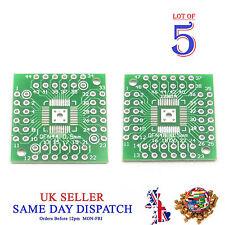 5x 2 côté PCB QFN48 à QFN44 5 mm pin côté Adaptateur Board IC Plaque