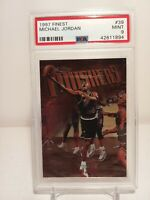 🐐1997 Topps Finest Michael Jordan #39 PSA 9👀🔥(POP 89)🔥