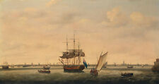 Frigate Surprise at Anchor off Great Yarmouth, Norfolk Holman Schiff B A3 01833
