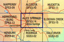 Alice Springs SF53-14 1:250,000  topographic map brand new latest edition