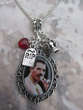 QUEEN FREDDIE MERCURY PICTURE CHARMS NECKLACE