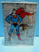 DC COMICS SUPERMAN TIN COIN BANK FEATURING THE MAN OF STEEL & SUPERMAN LOGO- NEW