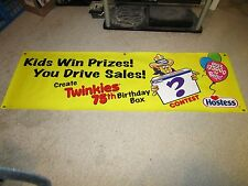 Hostess Twinkies 75th Birthday Thin Plastic Display Sign