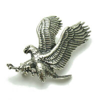 Sterling Silver Brooch Flying Eagle Genuine Solid Hallmarked 925 Handmade
