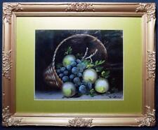 Antique Irish Art Oil Painting Still Life Signed Listed Artist c1900