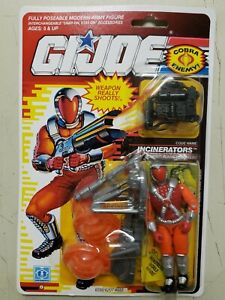 Hasbro G.I. Joe 1990 Incinerators cobra action figure MOC