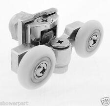 2 x Double Top Zinc Alloy Shower Door Rollers/Runners 20mm wheels diameter  L057