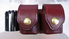 Quality Double Cylinder Belt Leather Pouch - Fits Remington 1858, Colt 1851,1860
