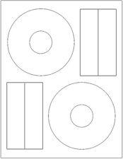 =MATTE FINISH= 5-INCH CD/DVD Labels 200-Pak (100 sheet)