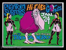 Coop CP97-01 Phantom Surfers GoNuts Silkscreen Concert Poster 1997 Bondage Mint