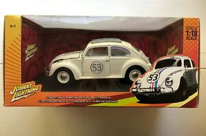 Herbie Fully Loaded 53 Classic 1:18 Scale Johnny Lightning VW Beetle Bug 2005