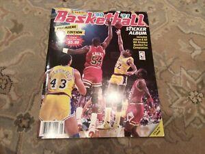 1990-91 Panini Basketball STICKER ALBUM Factory  SET Michael Jordan, Complete