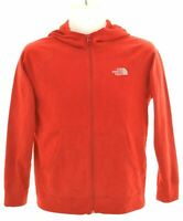 THE NORTH FACE Boys Fleece Hoodie Sweater 14-15 Years Large Red Polyester  FA01