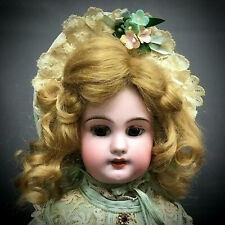 """Antique DEP 4 Jumeau 14"""" Cabinet Size - Molded Teeth French Bisque Doll Unmarked"""
