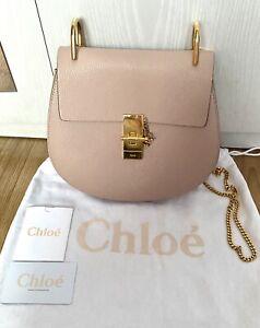 Chloe Drew Cement Pink Shoulder Bag 100% Genuine