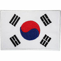South Korea Flag Patch Korean Embroidered Badge Iron Sew On Clothes Jacket Bag
