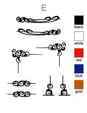 "Scroll decorative swirl sticker set of 8 Truck & Horse Float ute vinyl NEW ""E"""