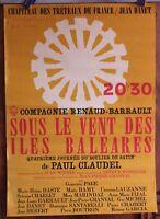 Affiche de 1979 ✤ Cie Renaud-Barrault / Îles Baléares ✤ 40 x 60