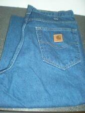 """Carhartt Denim Relaxed Fit Work Jeans Good Cond. 381-83 Size 36"""" x 30"""" - #10D.48"""