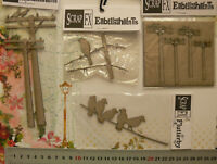 CHIPBOARD Die Cuts BIRDS Sitting Electricity Poles - 4 item Choice Scrap FX G