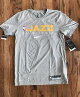 63 New Utah Jazz The Nike Tee Short Sleeve Shirt Men's Navy Dri-Fit Small Large