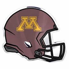"Ncaa Licensed Minnesota Golden Gopher Helmet Premium Aluminum Emblem 4""x3.5"""