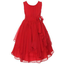 Flower Girl Princess Pageant Wedding Party Formal Birthday Kids Dress Size 5-14Y