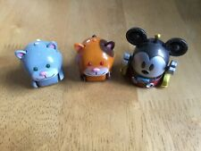 3 Tomy Micropets 2 Cats (Chumsley & Popsy) And Mickey Mouse