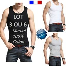 MARCEL HOMME DEBARDEUR 100 % COTON LOT 6 TEE SCHIRT POLO HOMME NEUF SOUS BLISTER