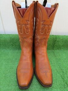 """VINTAGE LUCCHESE CLASSICS HONEY """"SCRATCH AND DENT"""" MEN COWBOY WESTERN BOOTS 11 D"""