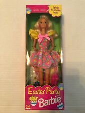 Blonde Barbie Doll Easter Party Baby Chick Dress Stickers Dye New # 12793