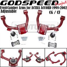 For 98-02 HONDA ACCORD CG CF Godspeed Adjustable Front Upper Camber Arm Kit Set